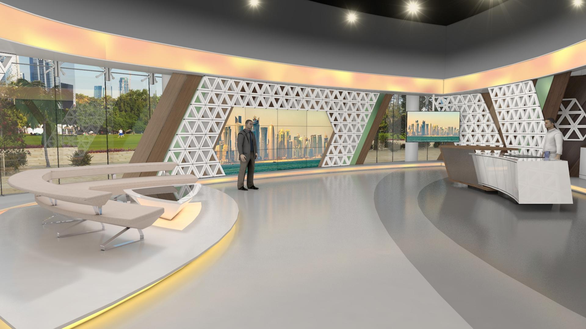 Qatar TV – Studiodesign für Morning Show - MOHR Design